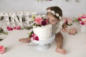 1st birthday milestone, cake smash