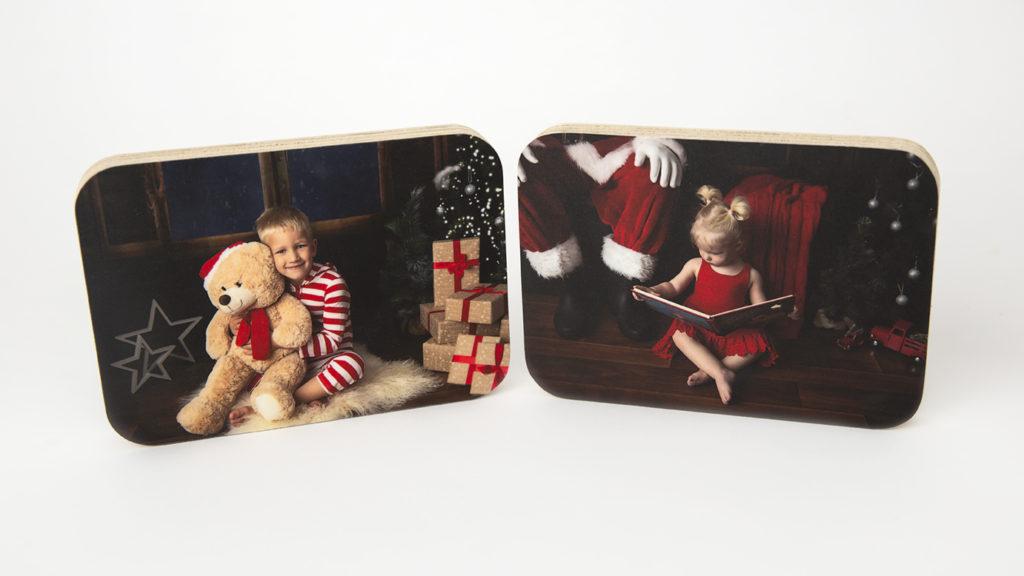 Wood print Christmas